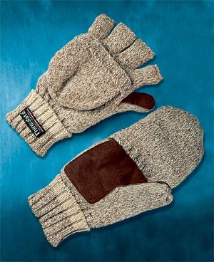 вязанные перчатки для рыбалки