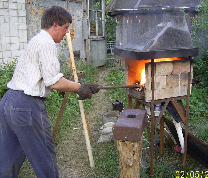 Печь для калки металла своими руками