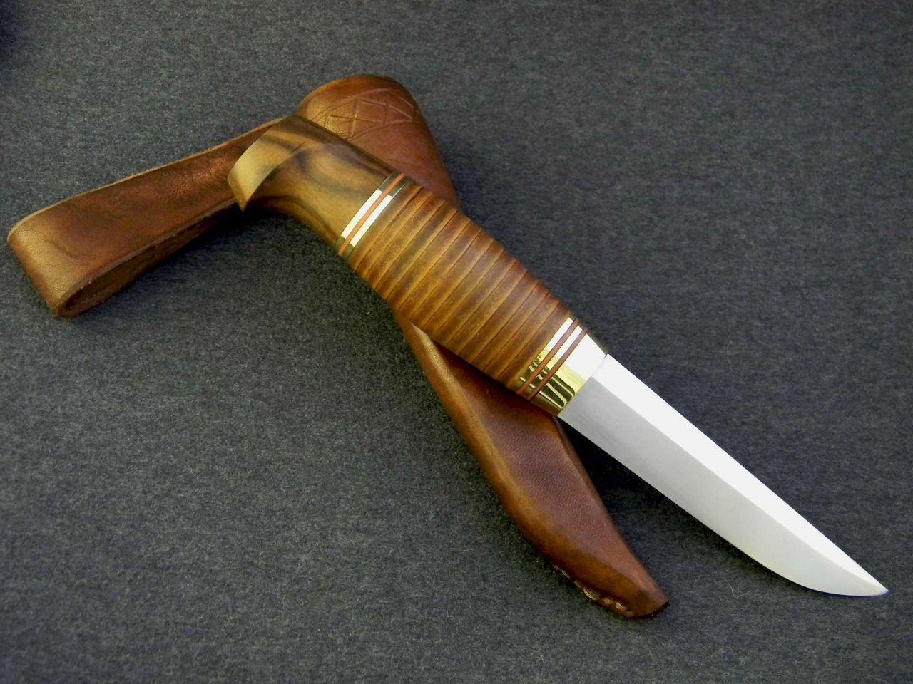Как сделать ручку на нож из ореха