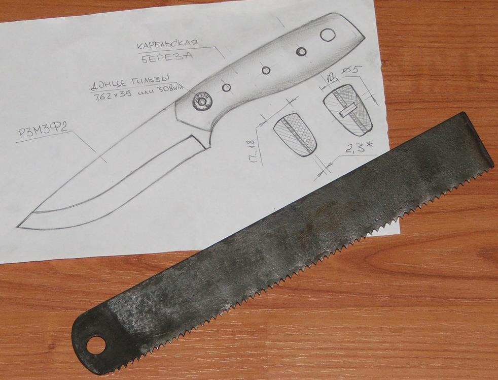 Из чего сделать нож своими руками фото