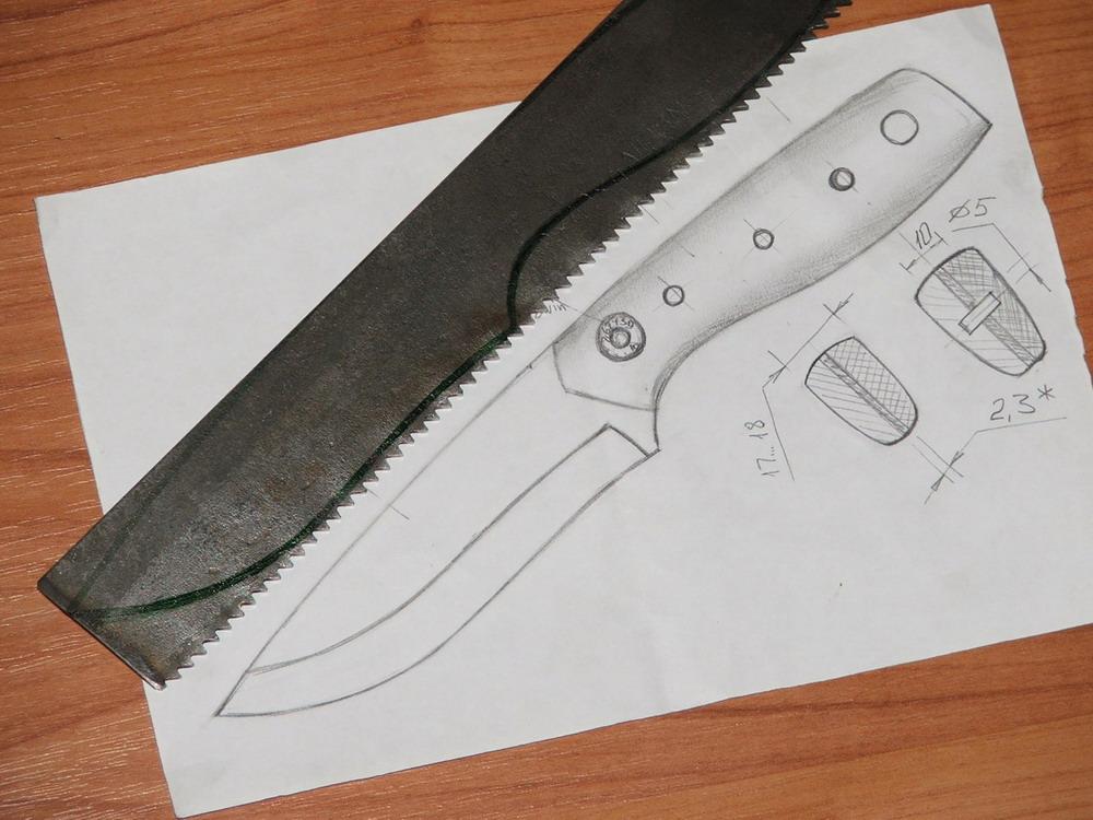 Нож картинки как делать