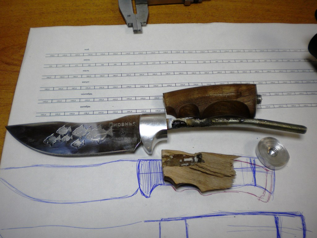 Пятка для ножа своими руками