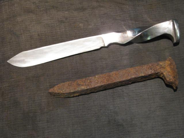 Как сделать из гвоздя нож