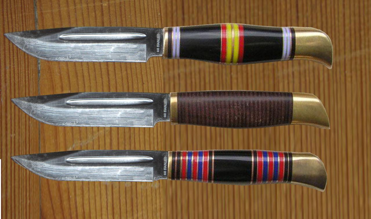 Ножи с наборной ручкой