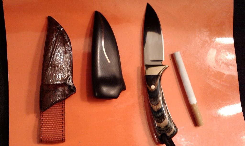 Ножны из тонкой кожи