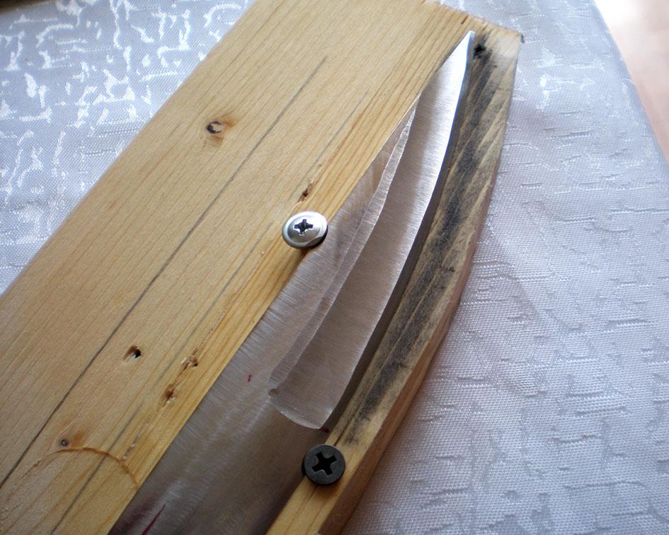 Как сделать спуск ножа болгаркой