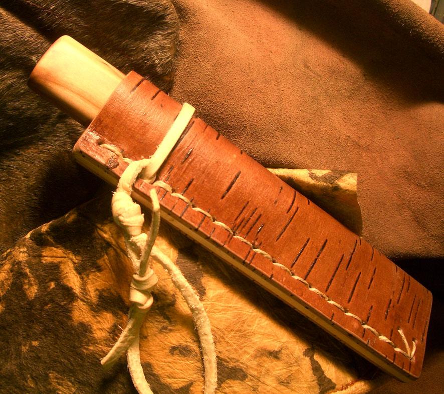 Берестяные ножны своими руками 97