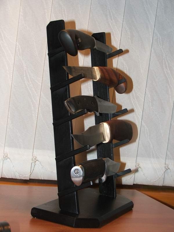Подставки для коллекционных ножей своими руками