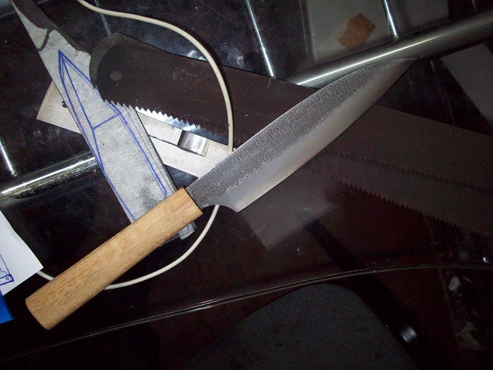 Нож из полотна продольной пилы видео