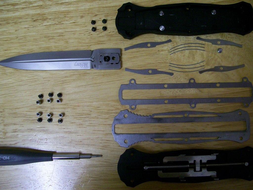 Поэтапное фото выкидных ножей своими руками