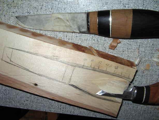 Чехол из дерева для ножа