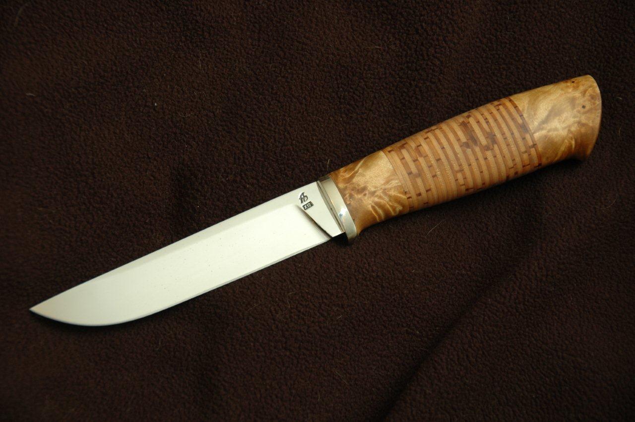 Береста на рукоять ножа своими руками 12