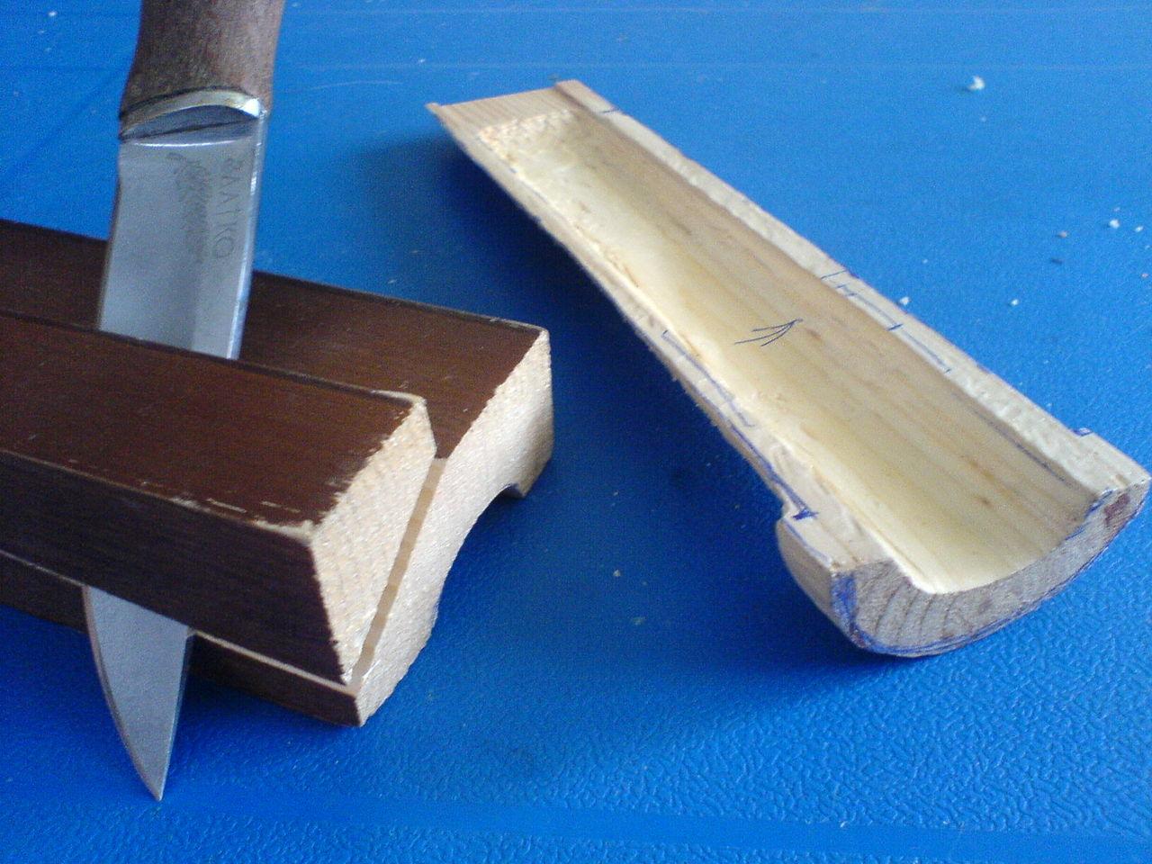 Изготовление ножны из дерева своими руками