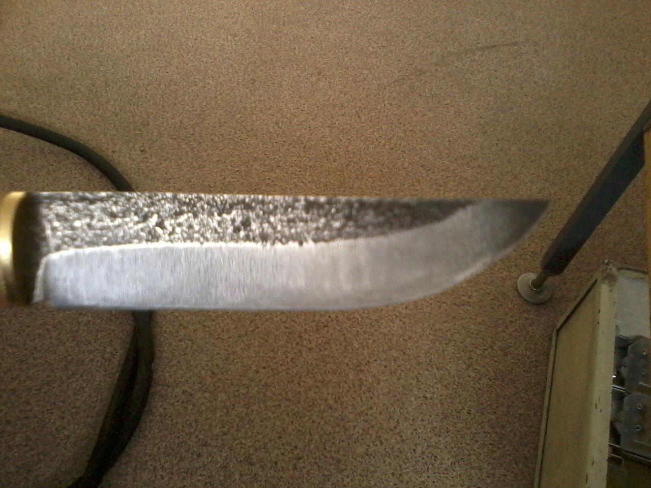 Финский нож из мехпилы
