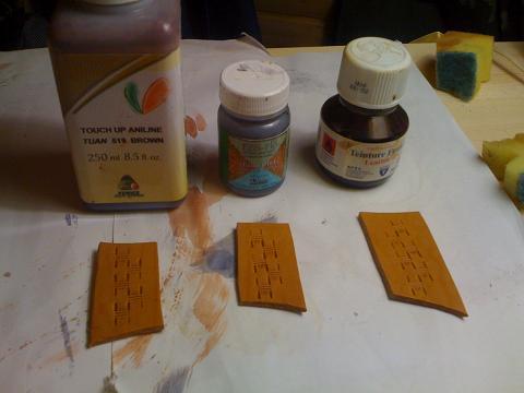 Краска для кожи растительного дубления своими руками