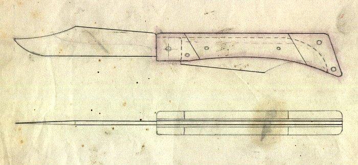 Как сделать складной нож своими руками чертежи 16