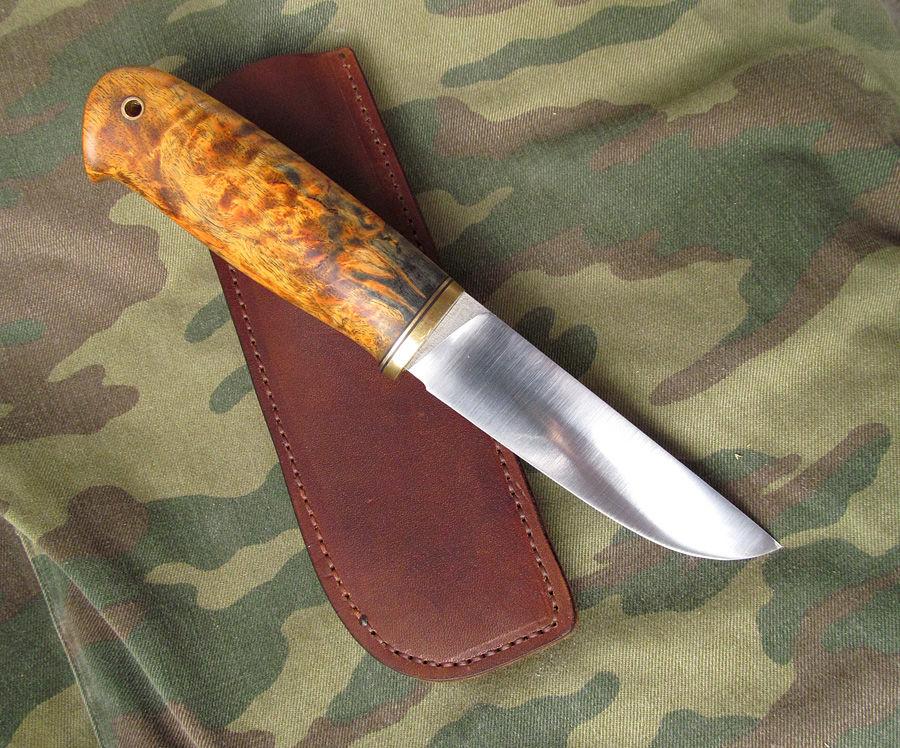 Рукоять ножа из березы